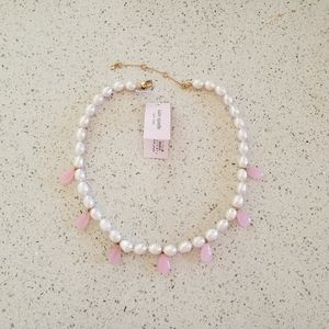 🆕️ Kate Spade Pink Pearl Drop Necklace